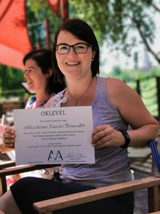 AVA Virtuális Asszisztens Mentorprogram mentorált vélemény Kincses Bernadett